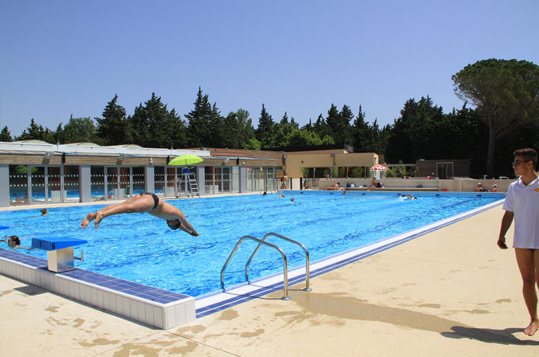 piscine camping avignon