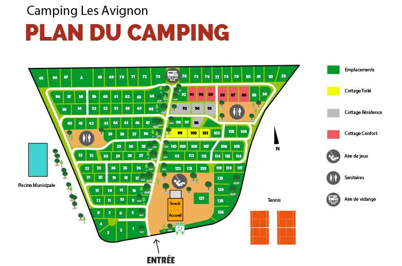 plan camping avignon